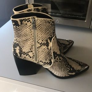 913a0b858b6 Steve Madden Shoes - Steve Madden Preston snakeskin bootie